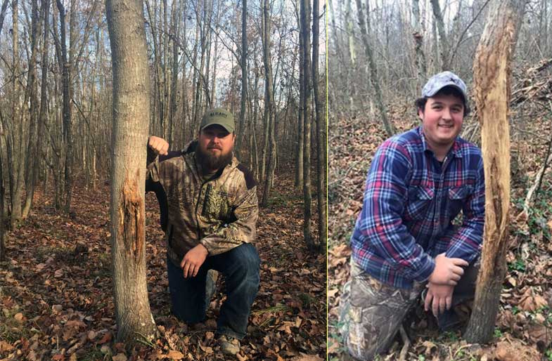 Southern Ohio Outfitters tree rubbings